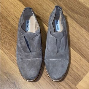 Suede oxford flats